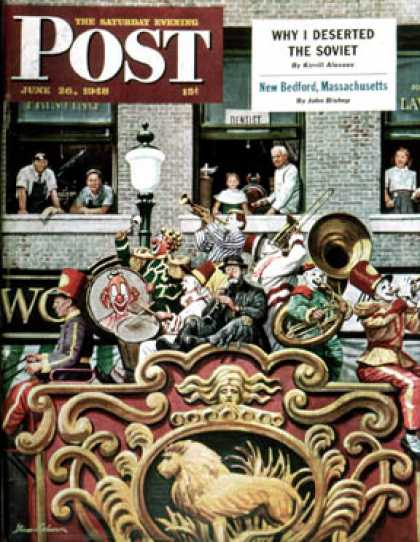 Saturday Evening Post - 1948-06-26: Clown Band (Stevan Dohanos)