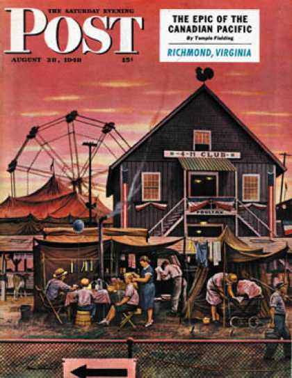 Saturday Evening Post - 1948-08-28: Four-H Fair (Stevan Dohanos)