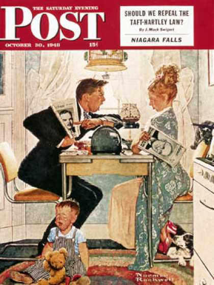 "Saturday Evening Post - 1948-10-30: ""Dewey v. Truman"" (Norman Rockwell)"