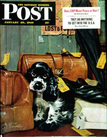 Saturday Evening Post - 1949-01-29: Butch in Lost & Found (Albert Staehle)