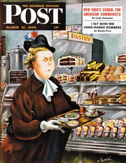Saturday Evening Post - 1949-03-12: NO Desserts (Constantin Alajalov)