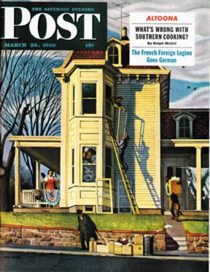 Saturday Evening Post - 1949-03-26: Spring Cleaning (John Falter)