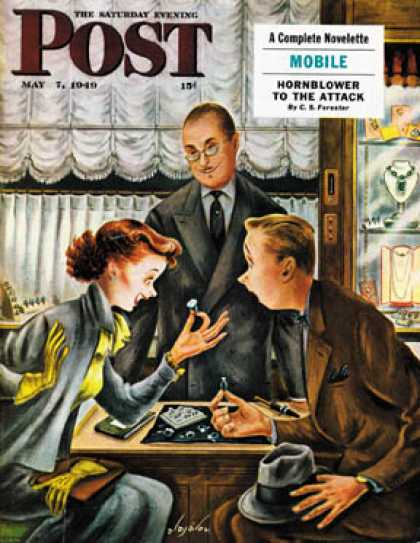 Saturday Evening Post - 1949-05-07: Engagement Ring (Constantin Alajalov)