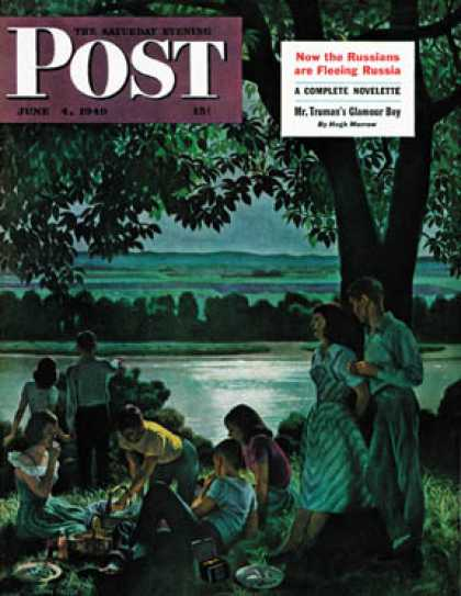 Saturday Evening Post - 1949-06-04: Evening Picnic (John Falter)