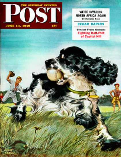 Saturday Evening Post - 1949-06-18: Butch and Baseball (Albert Staehle)