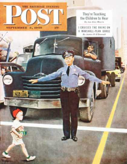 Saturday Evening Post - 1949-09-03: Traffic Cop (George Hughes)