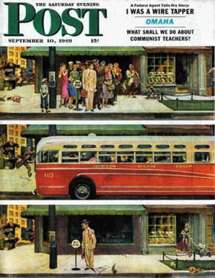 Saturday Evening Post - 1949-09-10: Missed the Bus (Thornton Utz)