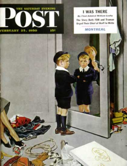 Saturday Evening Post - 1950-02-25: New Blue Suit (George Hughes)