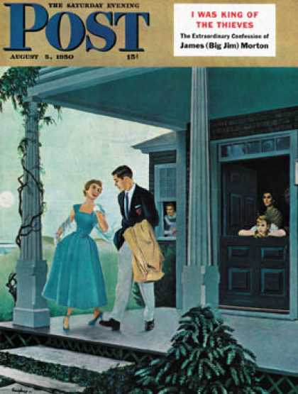 Saturday Evening Post - 1950-08-05: Date for the Dance (George Hughes)