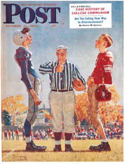 "Saturday Evening Post - 1950-10-21: ""Coin Toss"" (Norman Rockwell)"