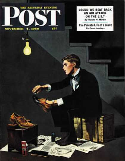 Saturday Evening Post - 1950-11-04: Brown Shoes to Black (George Hughes)