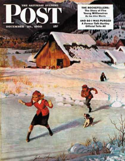 Saturday Evening Post - 1950-12-30: Winter on the Farm (John Clymer)