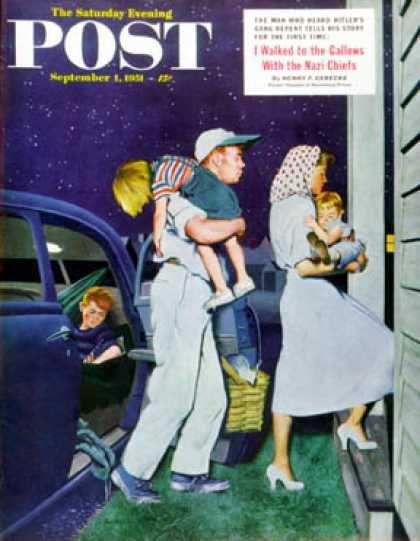 Saturday Evening Post - 1951-09-01: Home at Last (George Hughes)