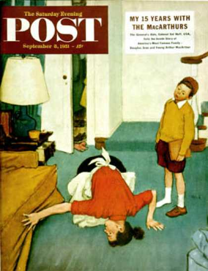 Saturday Evening Post - 1951-09-08: Missing Shoe (Jack Welch)