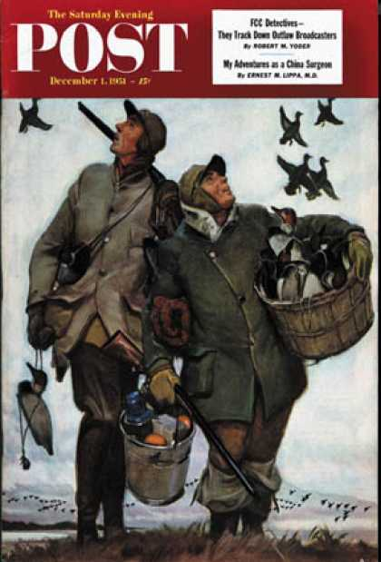 Saturday Evening Post - 1951-12-01: Nothing but Decoys (Mead Schaeffer)