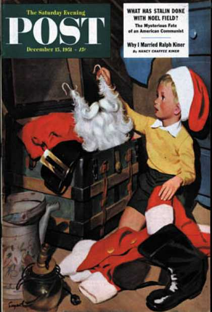 Saturday Evening Post - 1951-12-15: Truth About Santa (Richard Sargent)