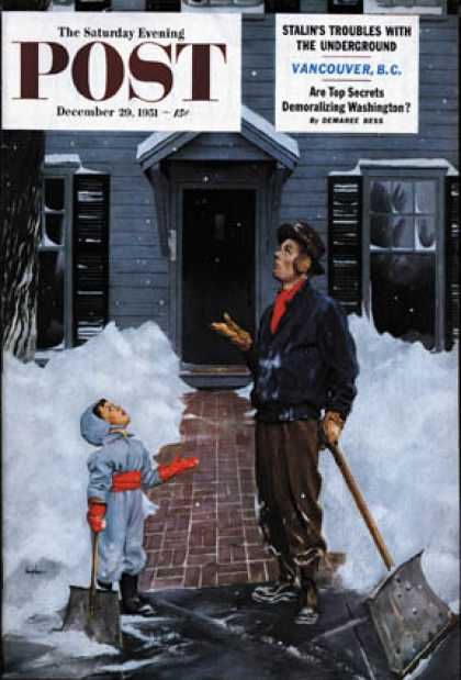 Saturday Evening Post - 1951-12-29: More Snow? (George Hughes)