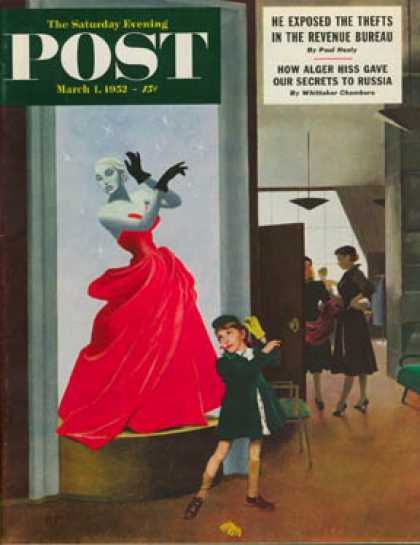 Saturday Evening Post - 1952-03-01: Mannequin (George Hughes)