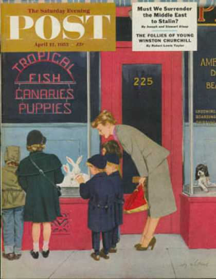 Saturday Evening Post - 1952-04-12: Bunnies for Sale (M. Coburn Whitmore)