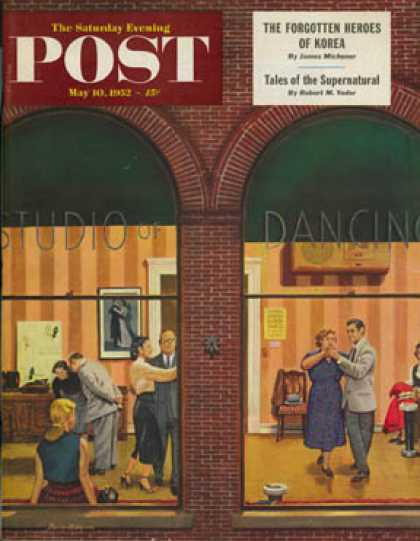 Saturday Evening Post - 1952-05-10: Dancing Class (Stevan Dohanos)
