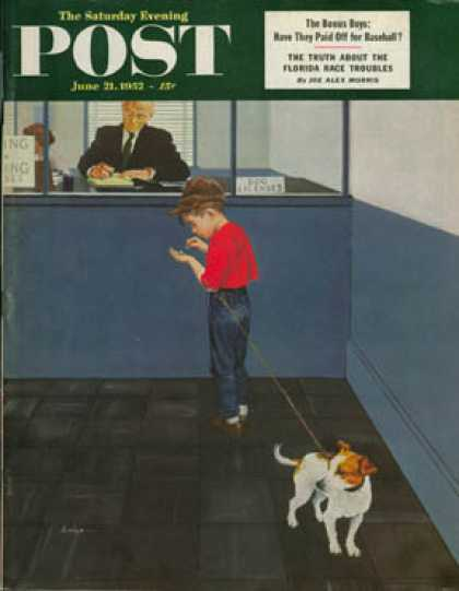 Saturday Evening Post - 1952-06-21: Dog License (George Hughes)