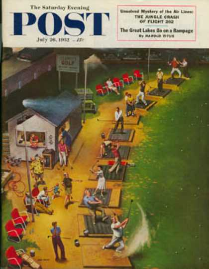 Saturday Evening Post - 1952-07-26: Golf Driving Range (John Falter)