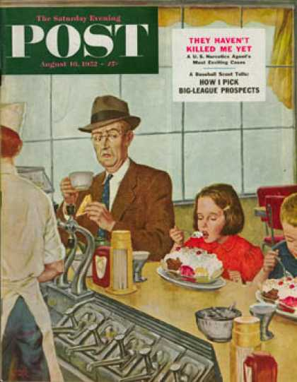 Saturday Evening Post - 1952-08-16: Banana Split (Amos Sewell)
