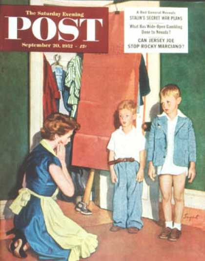 Saturday Evening Post - 1952-09-20: Suiting Her Sons (Richard Sargent)