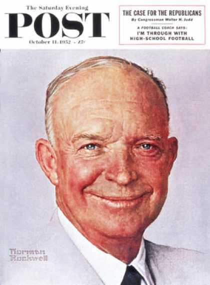 Saturday Evening Post - 1952-10-11: Eisenhower (Norman Rockwell)