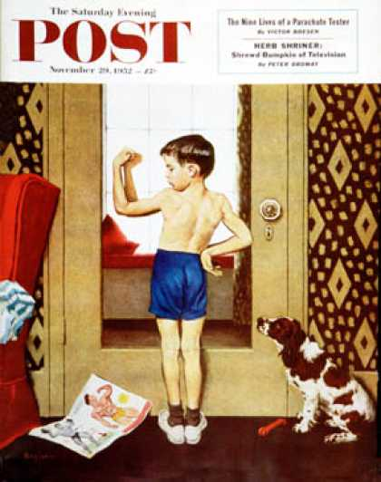 Saturday Evening Post - 1952-11-29: Young Charles Atlas (George Hughes)