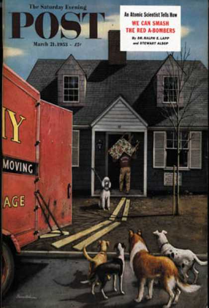 Saturday Evening Post - 1953-03-21: New Dog in Town (Stevan Dohanos)