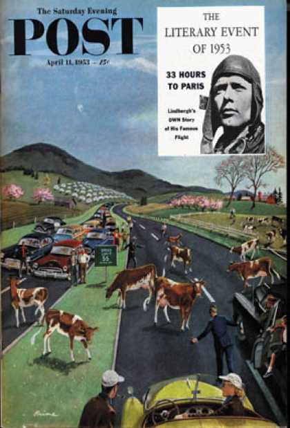 Saturday Evening Post - 1953-04-11: Slow Mooving Traffic (Ben Kimberly Prins)