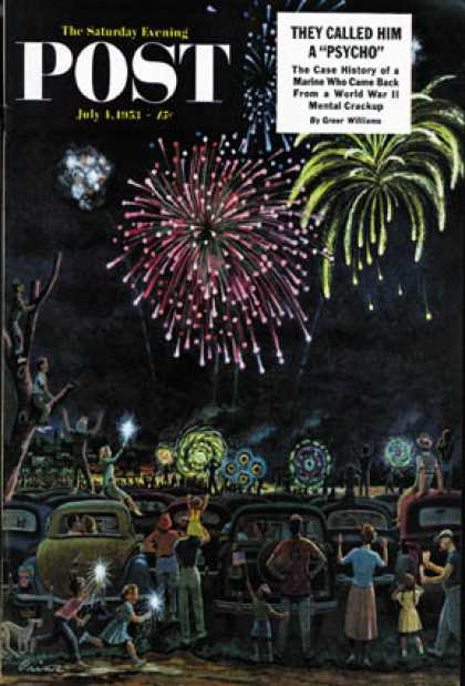 Saturday Evening Post - 1953-07-04: Fireworks (Ben Kimberly Prins)
