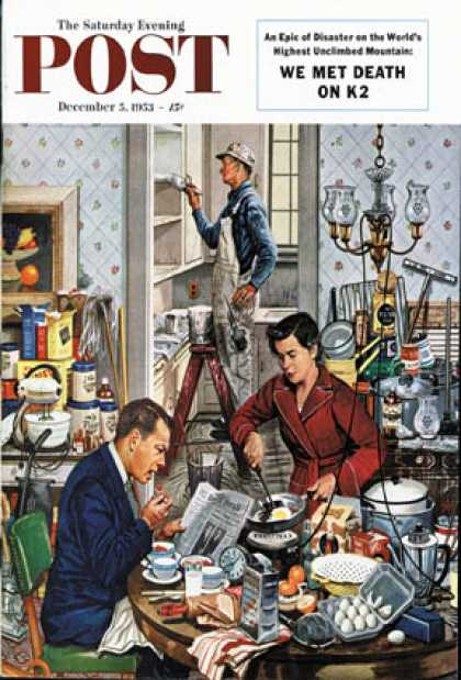 Saturday Evening Post - 1953-12-05: Home Improvement (Stevan Dohanos)