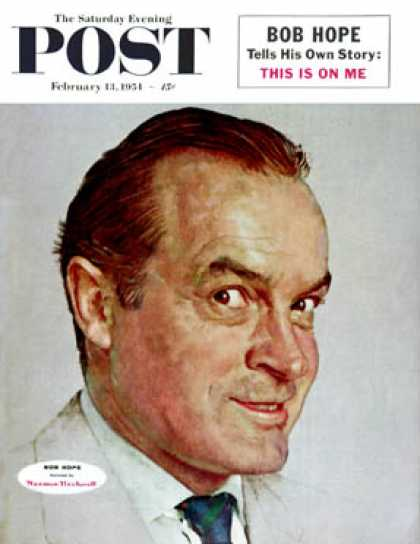 Saturday Evening Post - 1954-02-13: Bob Hope (Norman Rockwell)