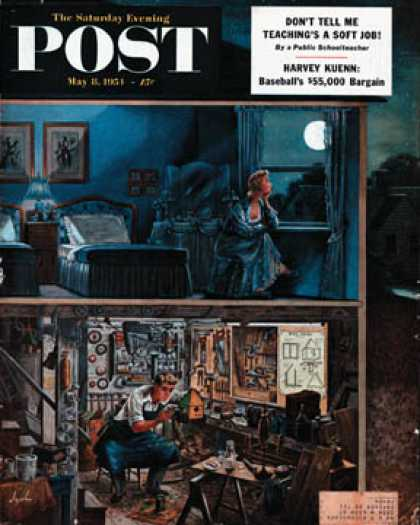 Saturday Evening Post - 1954-05-08: Different Interests (Constantin Alajalov)