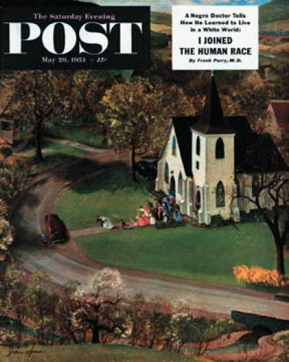 Saturday Evening Post - 1954-05-29: Rural Wedding (John Clymer)