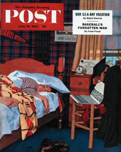 Saturday Evening Post - 1954-06-19: Sleeping In (Richard Sargent)