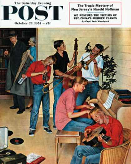 Saturday Evening Post - 1954-10-23: Jam Session (John Falter)