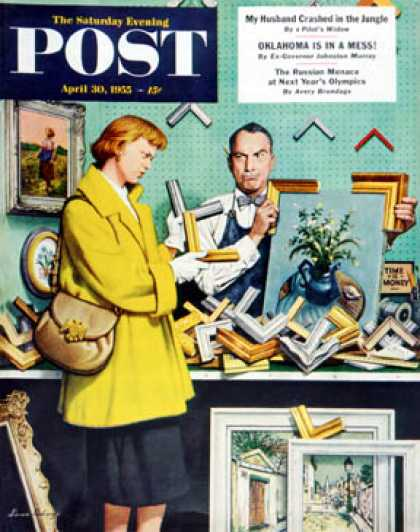 Saturday Evening Post - 1955-04-30: Frame-Up (Stevan Dohanos)