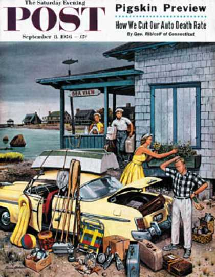 Saturday Evening Post - 1956-09-08: Packing the Car (Stevan Dohanos)