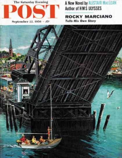Saturday Evening Post - 1956-09-22: Drawbridge (Ben Kimberly Prins)