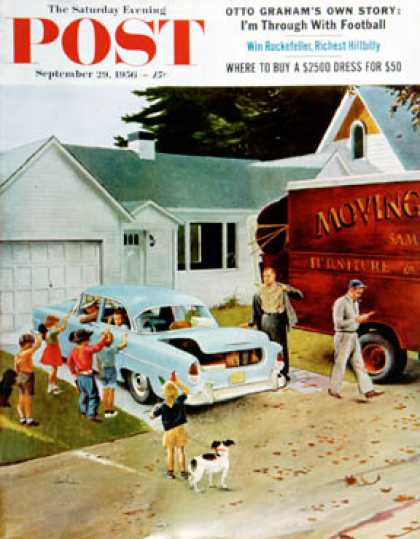 Saturday Evening Post - 1956-09-29: Moving Day (George Hughes)