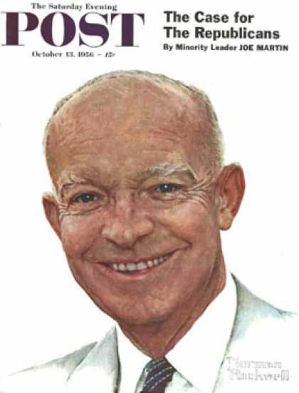 Saturday Evening Post - 1956-10-13: Dwight D. Eisenhower (Norman Rockwell)