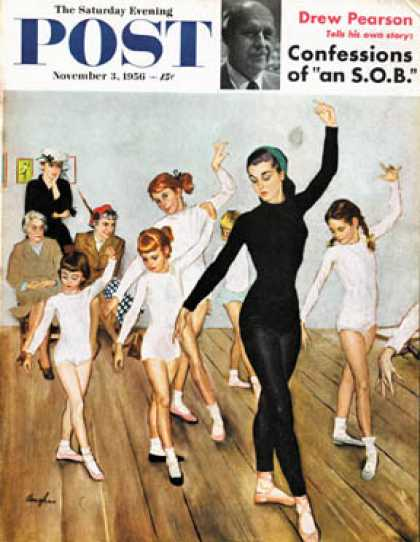 Saturday Evening Post - 1956-11-03: Ballet Class (George Hughes)