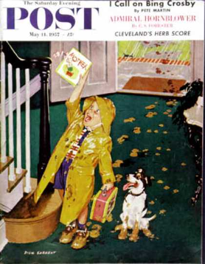 Saturday Evening Post - 1957-05-11: Happy Mother's Day (Richard Sargent)