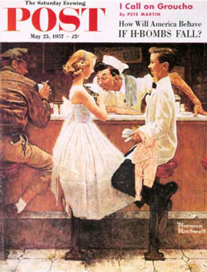 "Saturday Evening Post - 1957-05-25: ""After the Prom"" (Norman Rockwell)"
