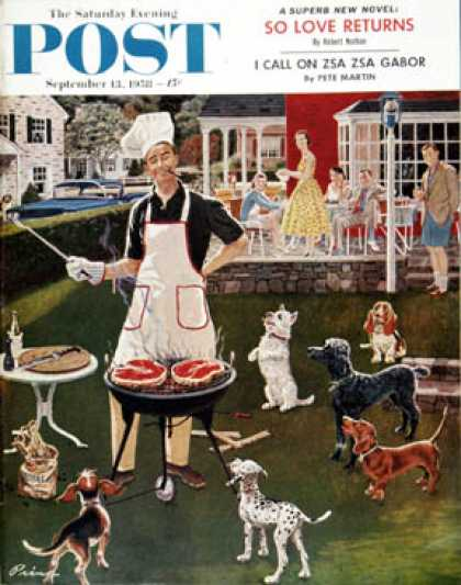 Saturday Evening Post - 1958-09-13: Hot Dogs (Ben Kimberly Prins)