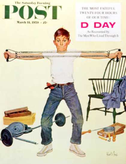 Saturday Evening Post - 1959-03-14: Working Out (Kurt Ard)