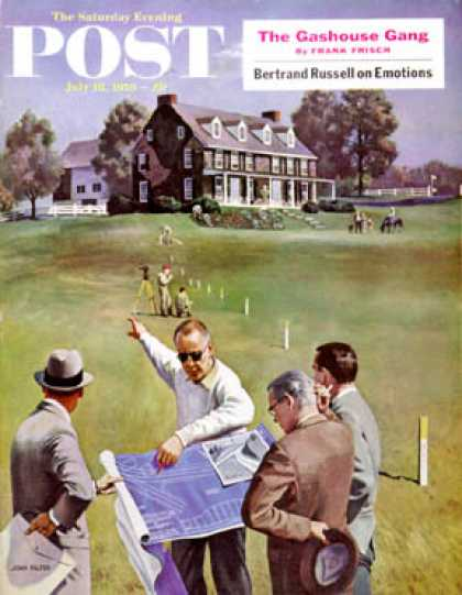 Saturday Evening Post - 1959-07-18: Imminent Domain (John Falter)